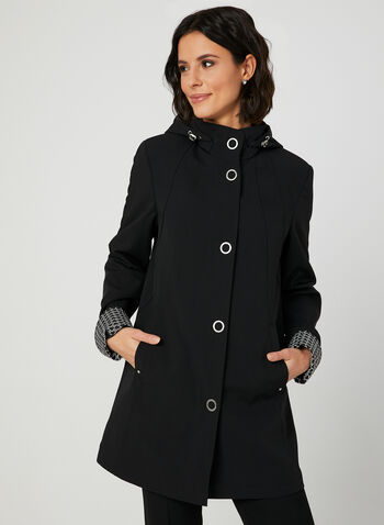 A-Line Raincoat, Black, hi-res