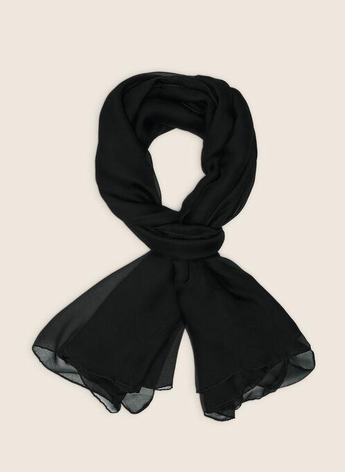 Oblong Scarf, Black