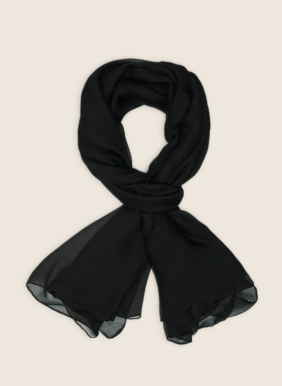 Oblong Scarf, Black