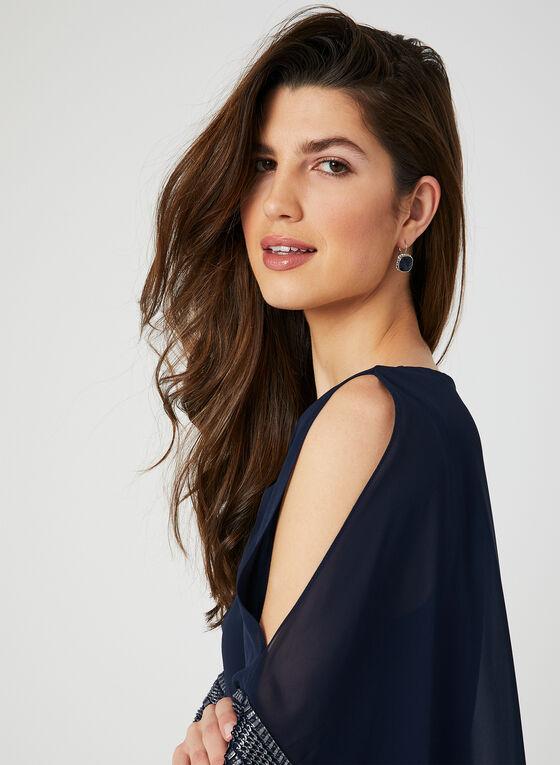 Chiffon Poncho Dress, Blue