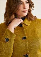Shirt Collar Button Front Jacket, Yellow
