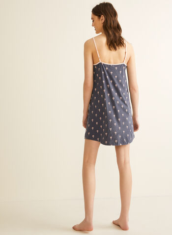 Claudel Lingerie - Printed Nightgown, Grey,  spring summer 2020, nightgown, pyjama,