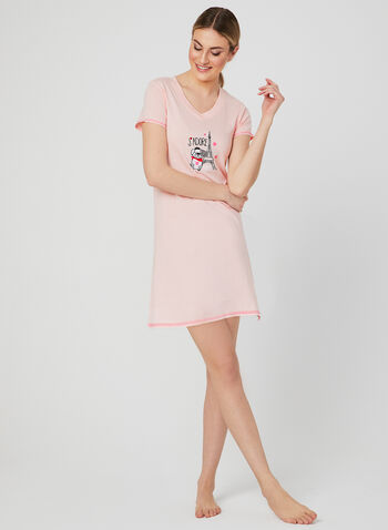 René Rofé - Dog Appliqué Nightshirt, Pink, hi-res