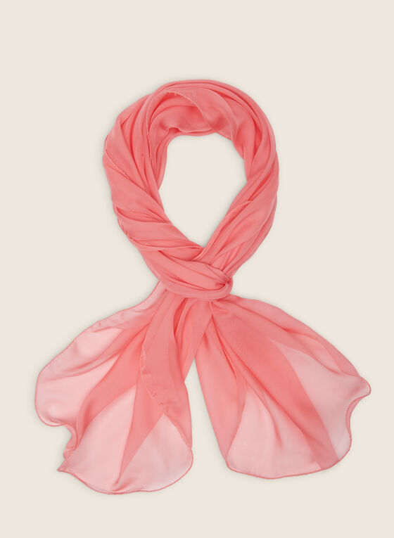 Sheer Oblong Scarf, Orange