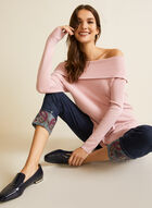 Cold Shoulder Knit Tunic, Pink
