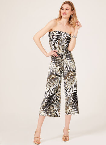 Strapless Gaucho Jumpsuit, Green, hi-res