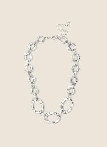 Large Link Silver Necklace, Silver,  fall winter 2020, jewellery, necklace, oversized, large links, gift, holiday, holiday 2020