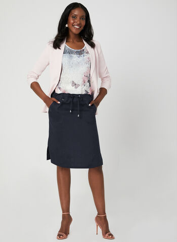 Mode de Vie - Jupe-short en lin, Bleu, hi-res,  jupe, short, lin, lien, poches, printemps 2019
