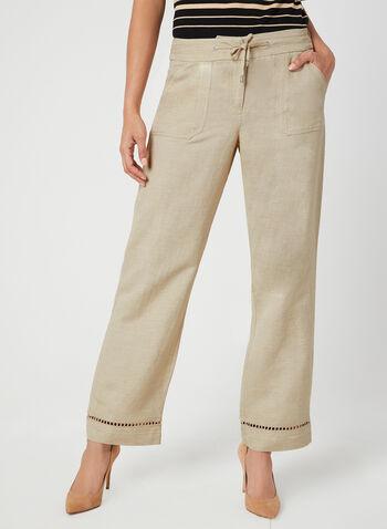 Modern Fit Wide Leg Pants, Off White, hi-res,  mid rise, contour waist, spring 2019