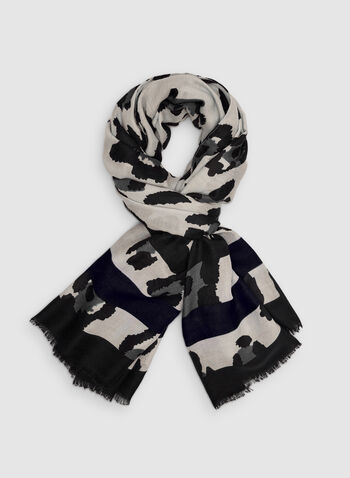 Vince Camuto - Leopard Print Scarf, Grey, hi-res,  leopard print, animal print, fall 2019, winter 2019