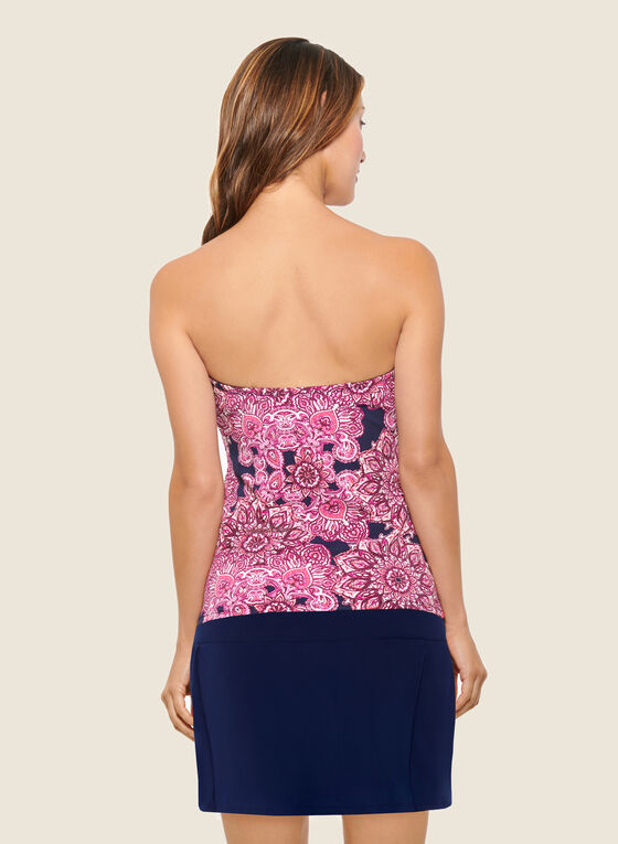 Christina - Mandala Print Skirted Bottom Tankini, Pink