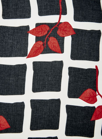 Square Print Scarf, Red, hi-res