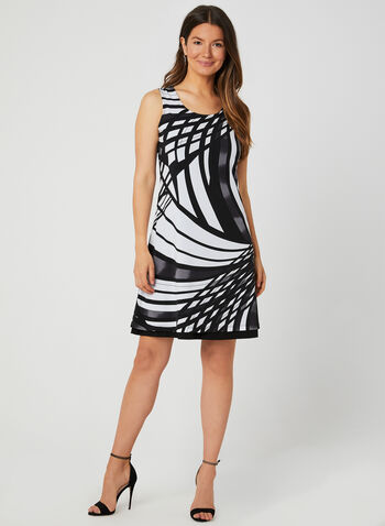 Reversible Jersey Dress, Black,  day dress, fall winter 2019, scoop neck, jersey, sleeveless