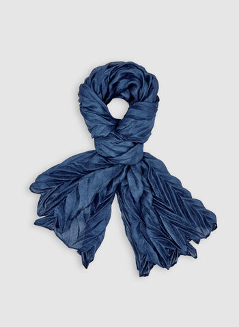 Herringbone Scarf , Blue, hi-res