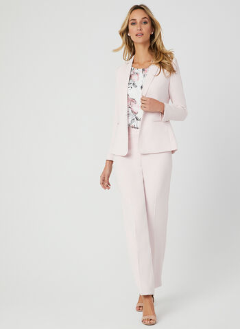 Notch Collar Blazer, Pink, hi-res
