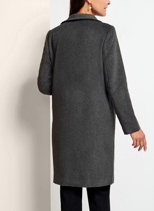 Open Cascade Front Duster Coat, Grey, hi-res