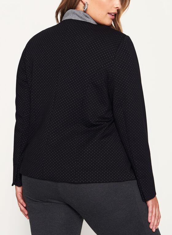 Cropped Ponte Jacket, Black, hi-res