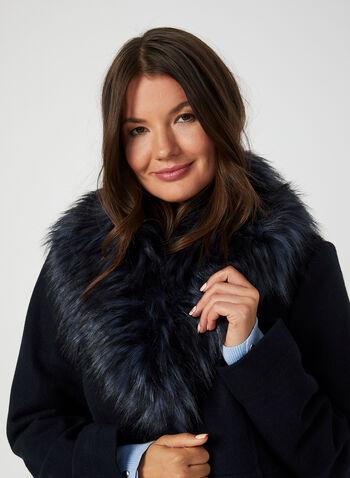 Faux Wool Coat, Blue, hi-res,  coat, winter coat, faux fur coat, faux fur, faux wool, faux wool coat, fall 2019, winter 2019