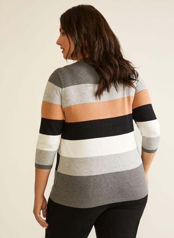 Pull en tricot à couleurs blocs, Gris