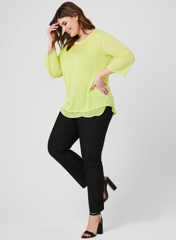 Knit Fooler Top, Green, hi-res