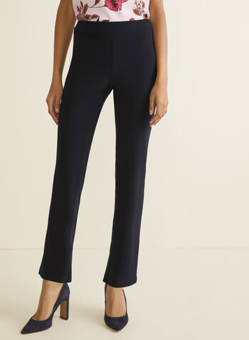 Modern Fit Straight Leg Pants, Blue,  Spring 2019, pull-on, Modern fit, straight leg