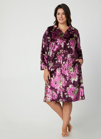 Hamilton - Velour Nightgown, Purple,  Canada, Hamilton, sleepwear, pyjama, velour, fall 2019, winter 2019