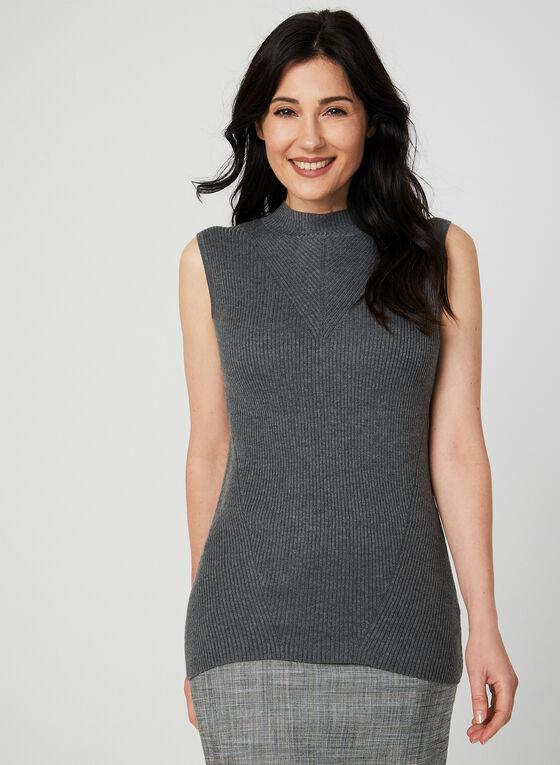 Sleeveless Knit Top, Grey