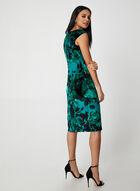 Floral Print Velour Dress, Green, hi-res