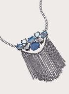 Collier en pierres et chaînes, Bleu, hi-res
