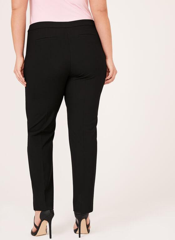 Pantalon coupe moderne à pinces, Noir, hi-res