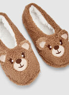 Bear Slippers, Brown