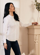 Long Sleeve Cotton Blouse, White
