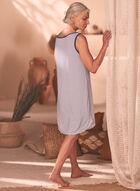 Button Detail Tank Nightgown, Blue