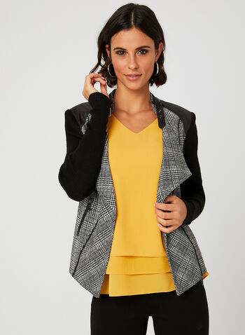 Vex - Glen Check Print Jacket, Black, hi-res