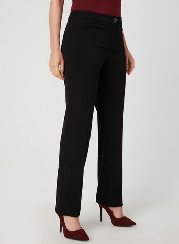 Modern Fit Straight Leg Pants, Black,  bi-stretch, modern, straight leg, faux pockets, fall 2019, winter 2019