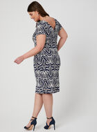 Textured Print Jersey Dress, Blue, hi-res