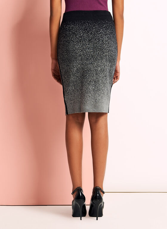 Jersey Knit Pencil Skirt, Grey, hi-res