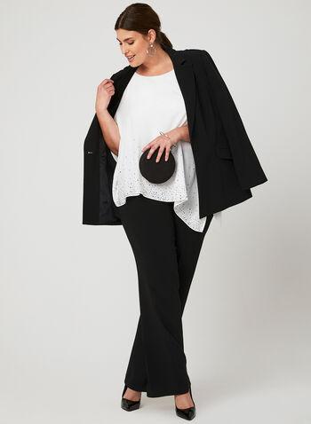 Asymmetrical Poncho Blouse, Off White, hi-res