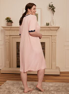 Lace Trim Nightgown, Pink