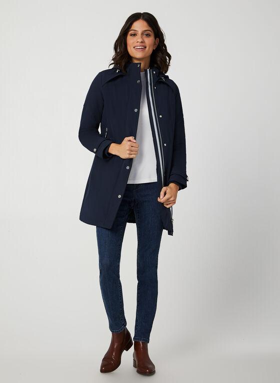 Manteau doublé à capuche, Bleu, hi-res