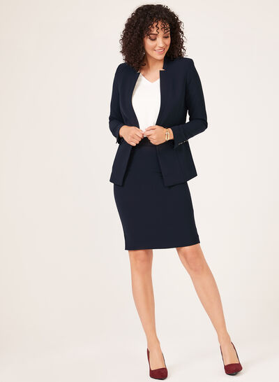 Notched Collar Blazer