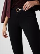 Pantalon pull-on à jambe étroite, Noir