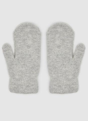 Mitaines en laine et détails strass, Gris, hi-res,  mitaines, laine, strass, perles, automne hiver 2019