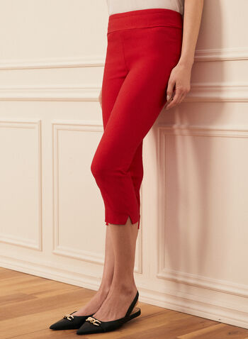 Pull-On Slim Leg Capris, Red,  capris, slim leg, pull-on, made in Canada, spring summer 2021