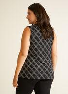 Chain Print Sleeveless Blouse, Black