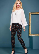 ¾ Sleeve Poncho Blouse, Off White, hi-res