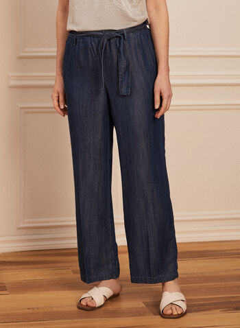 Pantalon aspect denim en tencel, Bleu,  pantalon, moderne, pull-on, denim, tencel, printemps été 2020