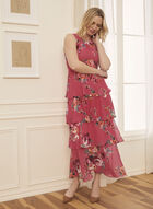Tiered Floral Print Dress, Pink