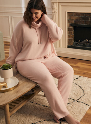 Sweater Knit Pull-On Pants, Pink,  pants, pull-on, sweater, knit, slim leg, fall winter 2020