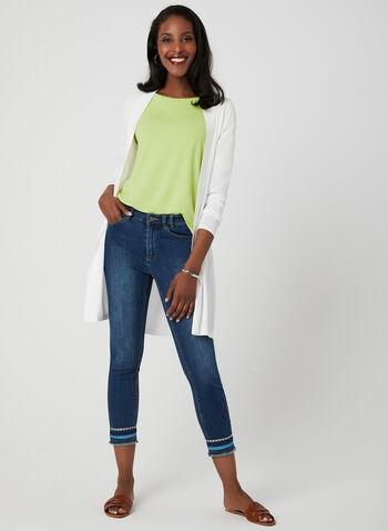 Charlie B - Modern Fit Capri Jeans, Blue, hi-res